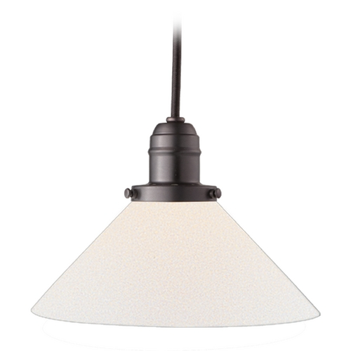 Hudson Valley Lighting Mini-Pendant Light with White Glass 3102-OB-M9