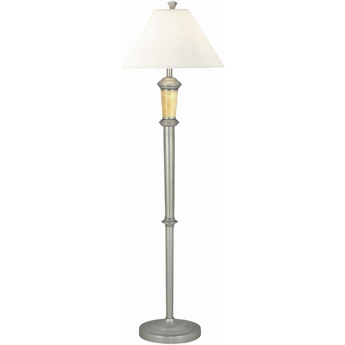 Lite Source Lighting Lite Source Lighting Dorian Satin Steel Floor Lamp with Empire Shade LS-9837