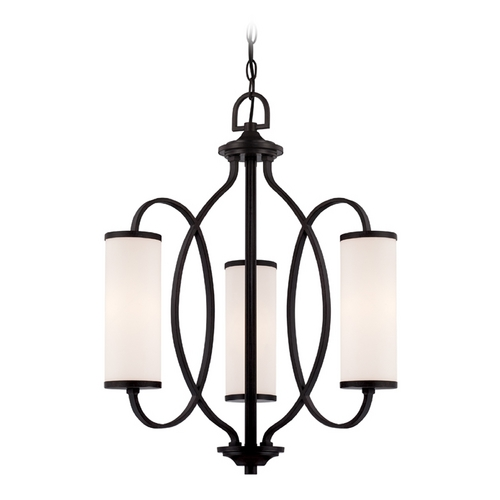 Designers Fountain Lighting Modern Chandelier with White Glass in Artisan Finish 84483-ART