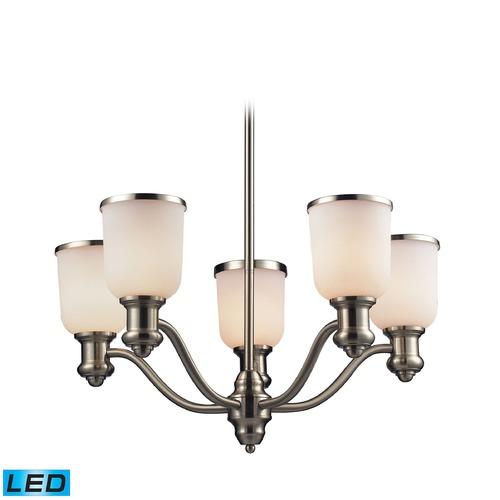 Elk Lighting Elk Lighting Brooksdale Satin Nickel LED Chandelier 66163-5-LED