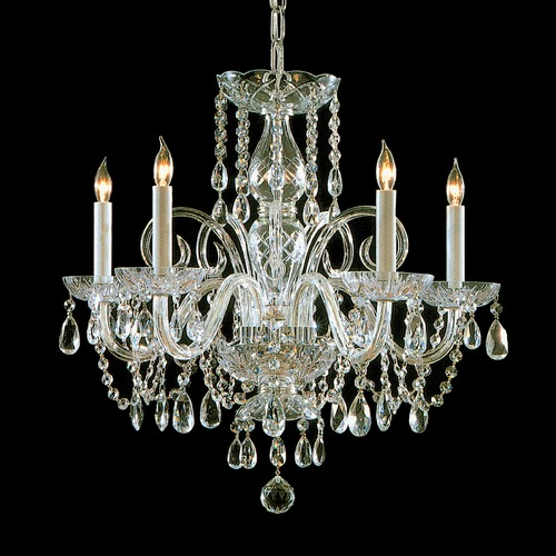 Crystorama Lighting Crystorama Lighting Traditional Crystal Polished Brass Chandelier 1005-PB-CL-MWP