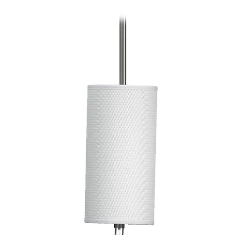 Quorum Lighting Quorum Lighting Copeland Satin Nickel Mini-Pendant Light with Cylindrical Shade 859-6-65