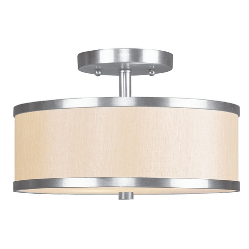 Livex Lighting Livex Lighting Park Ridge Brushed Nickel Semi-Flushmount Light 6343-91
