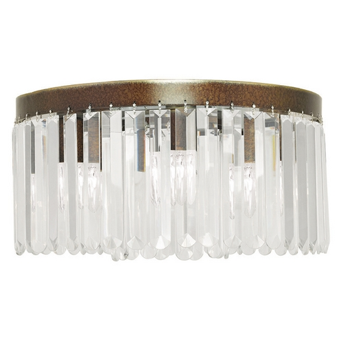 Livex Lighting Livex Lighting Ashton Hand Painted Palacial Bronze Flushmount Light 50554-64