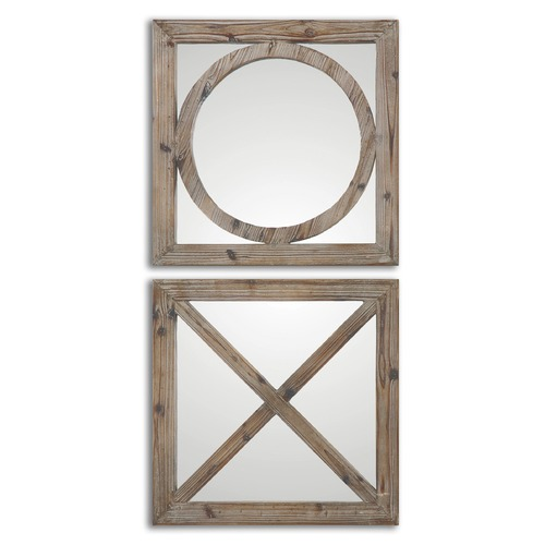 Uttermost Lighting Uttermost Baci E Abbracci, Wooden Mirrors Set of 2 07067