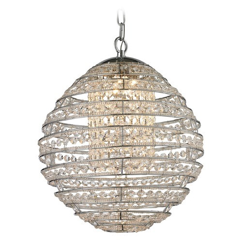 Elk Lighting Elk Lighting Crystal Sphere Polished Chrome LED Pendant Light 11731/LED