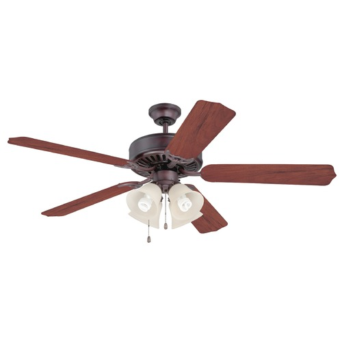Craftmade Lighting Craftmade Pro Builder 204 Oiled Bronze Ceiling Fan with Light K10635