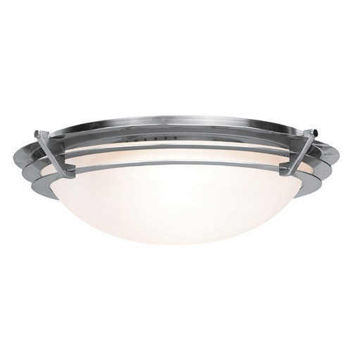 Access Lighting Access Lighting Saturn Brushed Steel LED Flushmount Light 50092LEDD-BS/FST