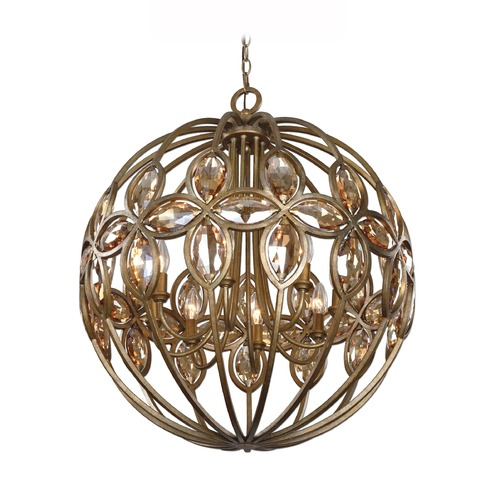 Uttermost Lighting Uttermost Ambre 8 Light Gold Sphere Chandelier 21269