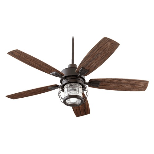 Quorum Lighting Quorum Lighting Galveston Oiled Bronze Ceiling Fan with Light 13525-86