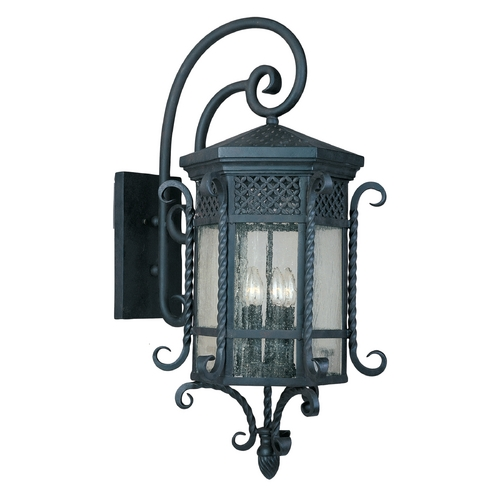 Maxim Lighting Outdoor Wall Light with Clear Glass in Country Forge Finish 30126CDCF