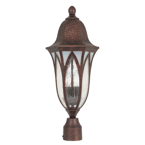 Designers Fountain Lighting Post Light with Clear Glass in Burnished Antique Copper Finish 20626-BAC