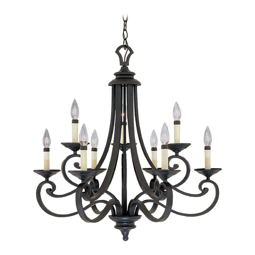 Designers Fountain Lighting Chandelier in Natural Iron Finish 9039-NI