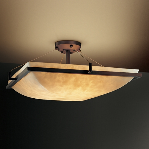 Justice Design Group Justice Design Group Clouds Collection Semi-Flushmount Light CLD-9781-25-DBRZ