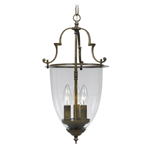 Crystorama Lighting Pendant Light with Clear Glass in Autumn Brass Finish 973-AU