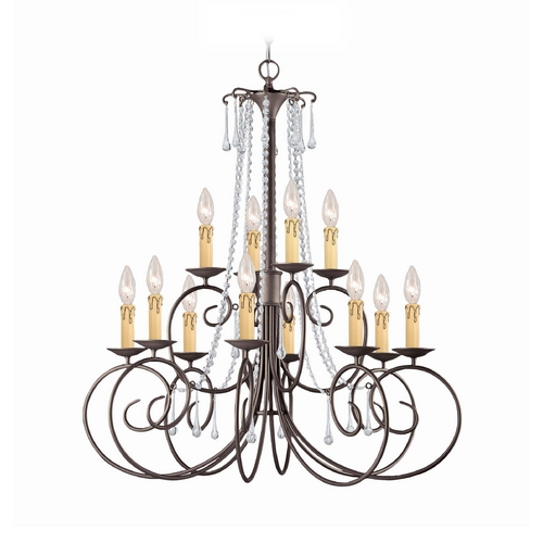Crystorama Lighting Crystal Chandelier in Dark Rust Finish 5212-DR-CL-MWP