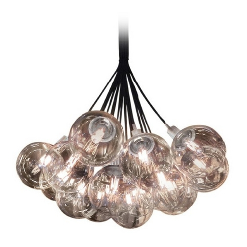 Sonneman Lighting Modern Pendant Light with Clear Glass in Polished Chrome Finish 4594.01H