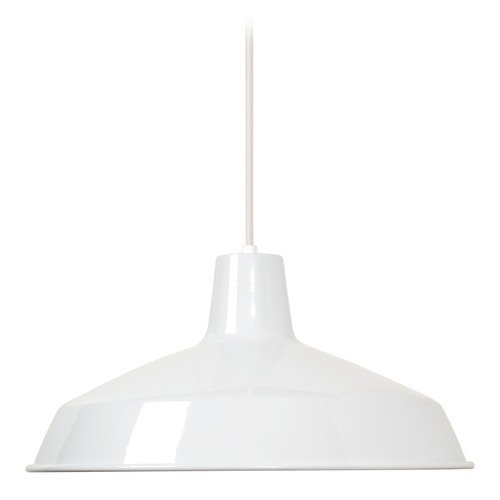 Nuvo Lighting Barn Light Pendant White 16-inch Wide by Nuvo Lighting 76/283