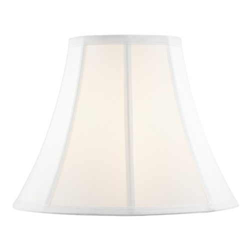 Design Classics Lighting Pure White Bell Fabric Lamp Shade with Piping and Spider Assembly SH9689
