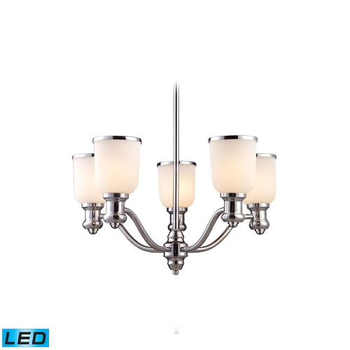 Elk Lighting Elk Lighting Brooksdale Polished Chrome LED Chandelier 66153-5-LED