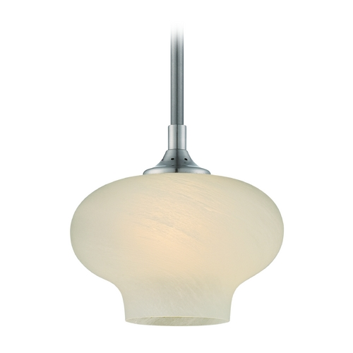 Designers Fountain Lighting Modern LED Mini-Pendant Light with Beige / Cream Glass LED6317-FS-SP