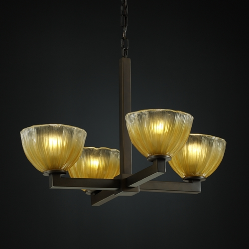 Justice Design Group Justice Design Group Veneto Luce Collection Chandelier GLA-8829-36-GLDC-DBRZ