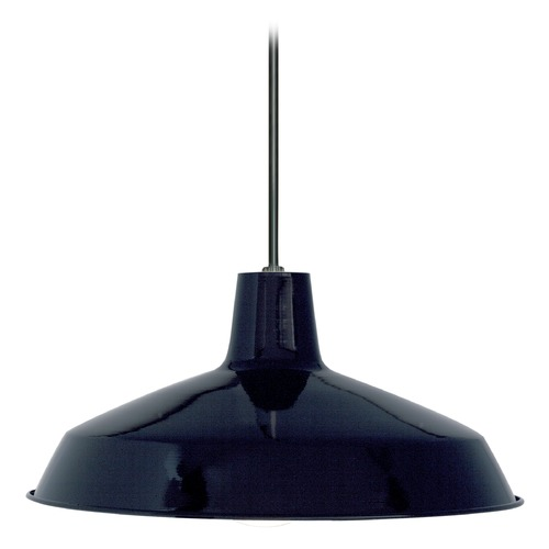 Nuvo Lighting Barn Light Pendant Black 16-inch Wide by Nuvo Lighting 76/284
