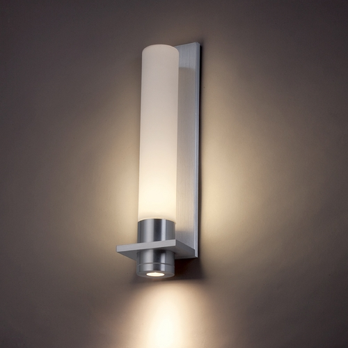 Modern Forms by WAC Lighting Modern Forms Jedi Brushed Aluminum LED Outdoor Wall Light WS-2818-AL