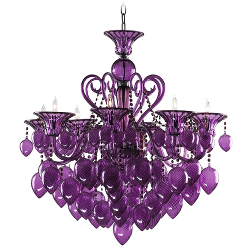 Cyan Design Cyan Design Bella Vetro Purple Chandelier 02996