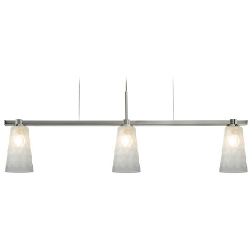 Oggetti Lighting Oggetti Lighting Oasis Satin Nickel Island Light with Cylindrical Shade 29-304