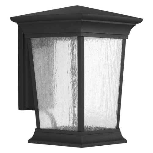 Progress Lighting Seeded Glass LED Outdoor Wall Light Black Progress Lighting P6069-3130K9