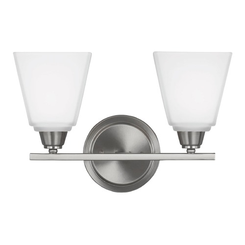 Sea Gull Lighting Sea Gull Lighting Parkfield Brushed Nickel Bathroom Light 4413002-962