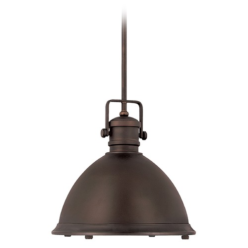 Capital Lighting Capital Lighting Burnished Bronze Pendant Light with Bowl / Dome Shade 4433BB