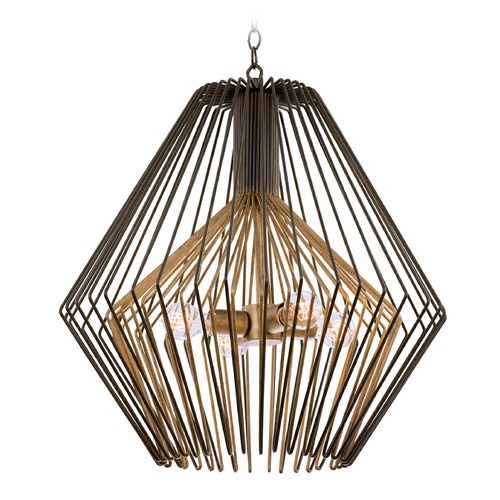 Kalco Lighting Kalco Metro I Bronze Gold Pendant Light 502252BZG