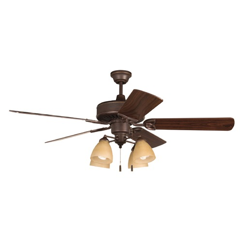 Craftmade Lighting Craftmade Lighting American Tradition Oiled Bronze Ceiling Fan with Light K11195