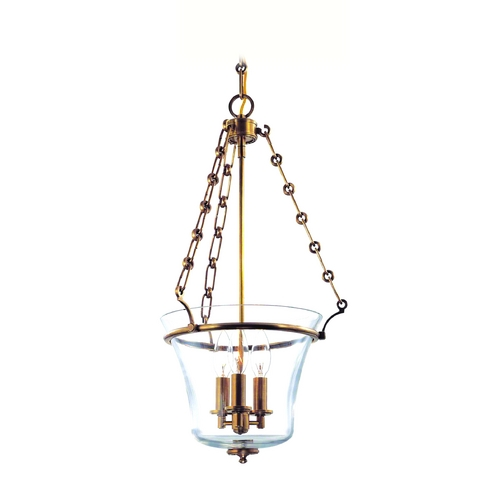Hudson Valley Lighting Pendant Light with Clear Glass in Aged Brass Finish 831-AGB