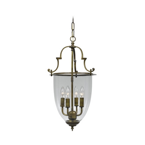 Crystorama Lighting Pendant Light with Clear Glass in Autumn Brass Finish 974-AU