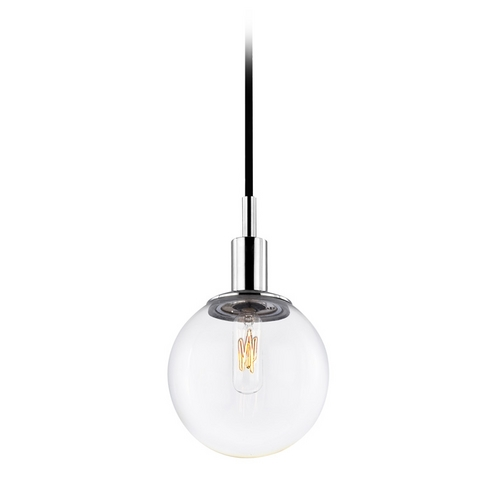 Sonneman Lighting Mid-Century Modern Mini-Pendant Light Chrome Clear Glass by Sonneman 4591.01C