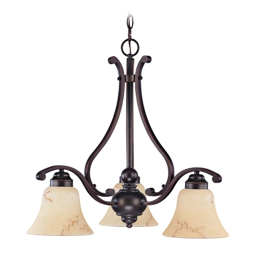 Nuvo Lighting Chandelier with Beige / Cream Glass in Copper Espresso Finish 60/1401