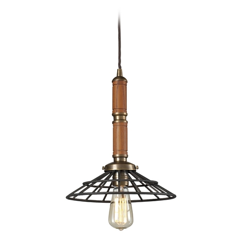Elk Lighting Pendant Light in Vintage Brass/vintage Rust Finish 65138-1