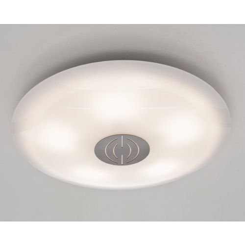 Holtkoetter Lighting Holtkoetter Modern Semi-Flushmount Light with White Glass in Satin Nickel Finish 3505DEK SN