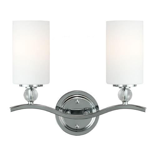 Sea Gull Lighting Sea Gull Lighting Englehorn Chrome / Optic Crystal Bathroom Light 4413402-05