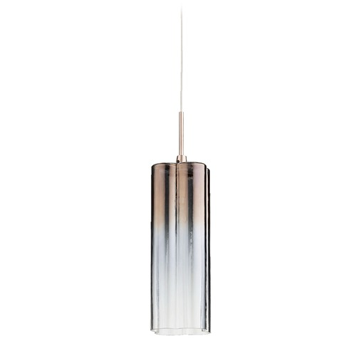 Quorum Lighting Quorum Lighting Brushed Copper Mini-Pendant Light with Cylindrical Shade 1357-19