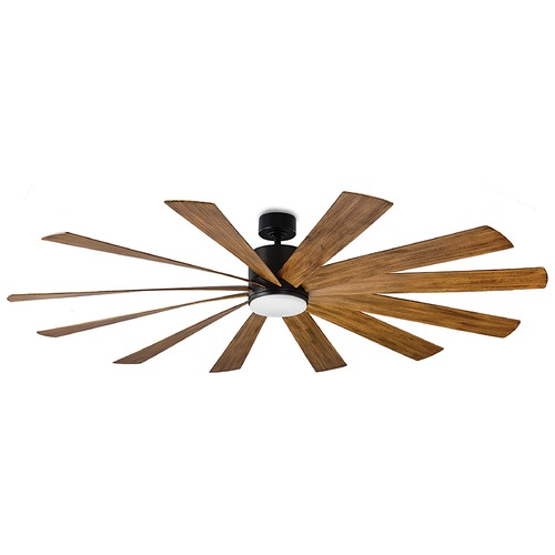 Modern Forms by WAC Lighting Modern Forms Matte Black 80-Inch LED Smart Ceiling Fan 2041LM 3000K FR-W1815-80L-MB/DK