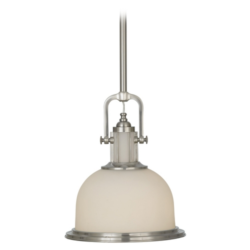 Feiss Lighting Pendant Light with White Glass P1146BS