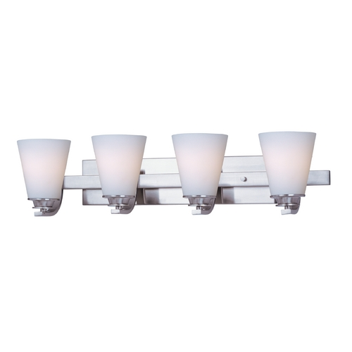 Maxim Lighting Maxim Lighting Conical Satin Nickel Bathroom Light 9014SWSN