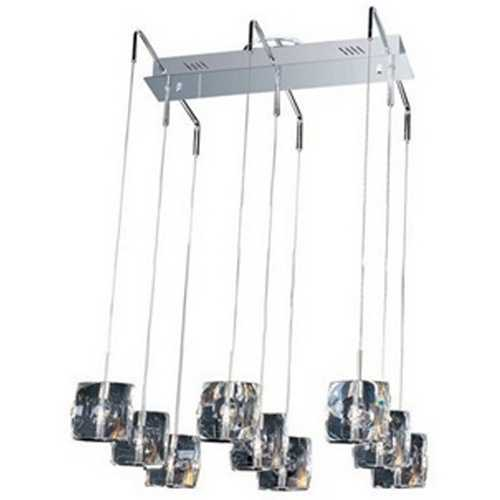 ET2 Lighting Modern Multi-Light Pendant Light with Clear Glass and 9-Lights E30509-20