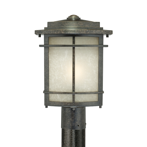 Quoizel Lighting Post Light with Amber Glass in Imperial Bronze Finish GLN9010IB