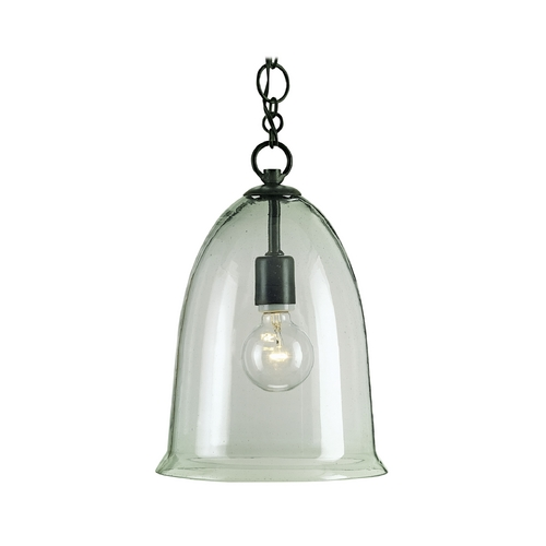 Currey and Company Lighting Mini-Pendant Light with Clear Glass 9122
