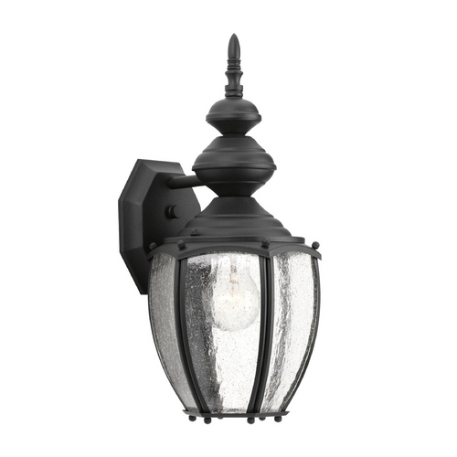 Progress Lighting Seeded Glass Outdoor Wall Light Black Progress Lighting P5765-31